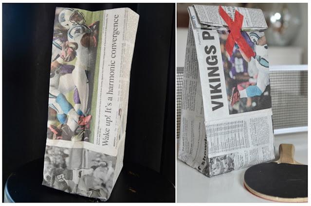 Gazete Kağıdından Hediye Paketi Yapımı