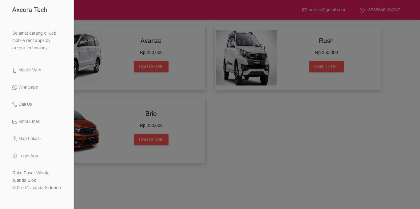 website otomotif rental kendaraan rent car