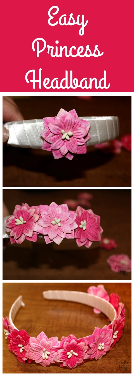 How to make a an easy princess Briar Rose headband for Sleeping Beauty.