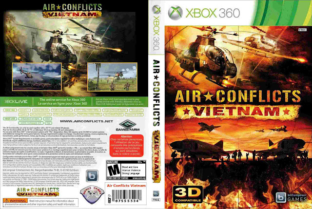 Capa xBox360 Air Conflicts Vietnam