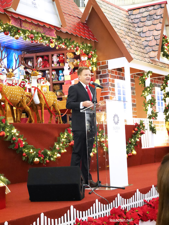 Mr Andrew Brien, Executive Director / Chief Executive Officer of Suria KLCC at the Christmas Launch