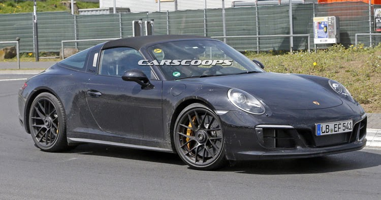 2017 porsche 911 gts targa spied undisguised gets turbo six. Black Bedroom Furniture Sets. Home Design Ideas
