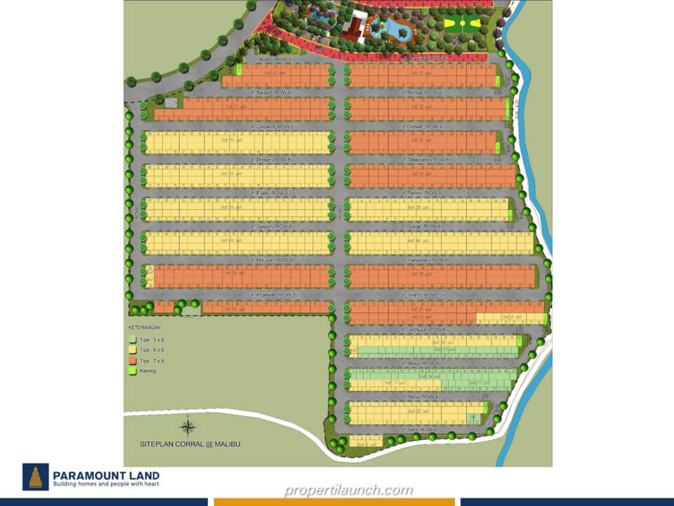 Site Plan Rumah Corral @ Malibu Village