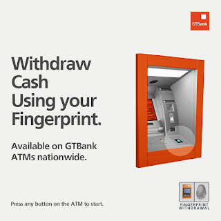 GTBank ATM withdrawal with fingerprint