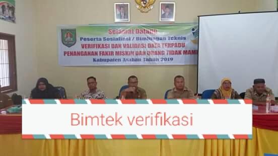 Bimtek verifikasi dan validasi data terpadu fakir miskin 2019 di Silo Lama.