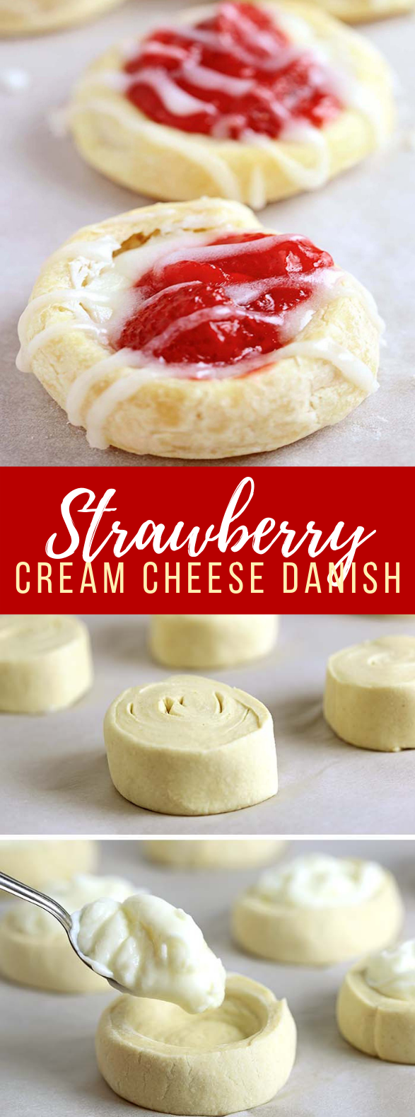 Strawberry Cream Cheese Danish #desserts #cake