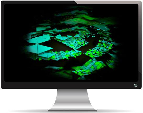 Triangles Nvidia Shield Tablet Stock - Fond d'Écran en Quad HD 1440p