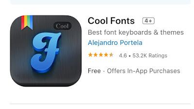 Aplikasi Cool Fonts