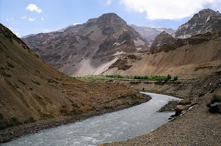 Beautiful spiti river.