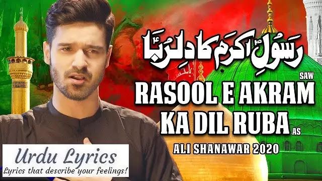 Rasool e Akram Ka Dilruba Noha Lyrics - Ali Shanawar