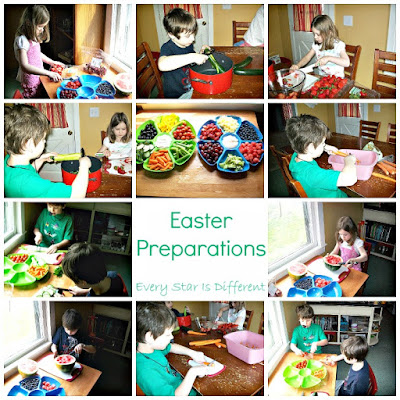 Encourage children to help prepare for celebrations.