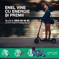 Castiga o masina electrica Renault Zoe + 5 biciclete electrice Atala B Cross + 5 trotinete electrice Xiaomi - concurs - enel - castiga.net