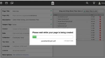 Cara Berbagi File PDF Dengan archive.org