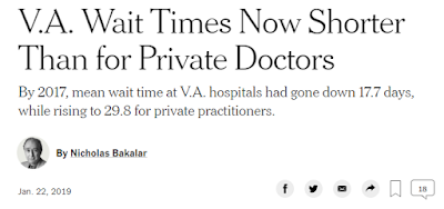 Success stories - V.A. Wait Times Now Shorter Than for Private Doctors