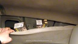 500 de pachete de țigări, ascunse într-un ansamblu rutier, descoperite la P.T.F. Calafat