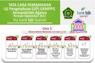 alur pembayaran melalui Mobile Maslahah Bank BJB Syariah