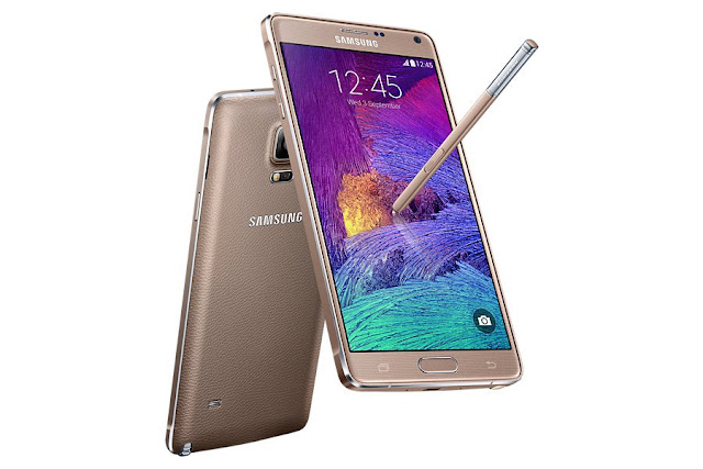 "Samsung Galaxy Note 4 Duos Specifications - LAUNCH Announced 2014, October Also Known As Samsung Galaxy Note4 (Dual SIM) N9100 DISPLAY Type Super AMOLED capacitive touchscreen, 16M colors Size 5.7 inches (~74.2% screen-to-body ratio) Resolution 1440 x 2560 pixels (~515 ppi pixel density) Multitouch Yes Protection Corning Gorilla Glass 4 BODY Dimensions 153.5 x 78.6 x 8.5 mm (6.04 x 3.09 x 0.33 in) Weight 175 g (6.17 oz) SIM Dual SIM (Micro-SIM, dual stand-by)  - Stylus PLATFORM OS Android OS, v4.4.4 (KitKat), upgradable to v5.0.1 (Lollipop) CPU Quad-core 2.7 GHz Krait 450 Chipset Qualcomm Snapdragon 805 GPU Adreno 420 MEMORY Card slot microSD, up to 256 GB (dedicated slot) Internal 16 GB, 3 GB RAM CAMERA Primary 16 MP, f/2.2, 31mm, OIS, autofocus, LED flash Secondary 3.7 MP, f/1.9, 22mm, 1440p@30fps, 1080p (HDR) Features 1/2.6"" sensor size, 1.12 µm pixel size, geo-tagging, touch focus, face/smile detection, panorama, HDR Video 2160p@30fps, 1080p@60fps, dual-video rec. NETWORK Technology GSM / HSPA / LTE 2G bands GSM 850 / 900 / 1800 / 1900 - SIM 1 & SIM 2 3G bands HSDPA 850 / 900 / 1900 / 2100 4G bands LTE band 1(2100), 3(1800), 7(2600), 38(2600), 39(1900), 40(2300), 41(2500) - Hong Kong Speed HSPA, LTE GPRS Yes EDGE Yes COMMS WLAN Wi-Fi 802.11 a/b/g/n/ac, dual-band, Wi-Fi Direct, hotspot NFC Yes GPS Yes, with A-GPS, GLONASS, BDS USB microUSB v2.0 (MHL 3 TV-out), USB Host Radio No Bluetooth v4.1, A2DP, EDR, LE Infrared Port Yes FEATURES Sensors Fingerprint, accelerometer, gyro, proximity, compass, barometer, gesture, UV, heart rate, SpO2 Messaging SMS(threaded view), MMS, Email, Push Mail, IM Browser HTML5 Java No SOUND Alert types Vibration; MP3, WAV ringtones Loudspeaker Yes 3.5mm jack Yes  - 24-bit/192kHz audio - Active noise cancellation with dedicated mic BATTERY  Removable Li-Ion 3000 mAh battery Stand-by Up to 381 h (3G) Talk time  Music play  MISC Colors Frosted white, Charcoal black, Bronze Gold, Blossom Pink SAR US 0.33 W/kg (head)     1.09 W/kg (body)    SAR EU 0.20 W/kg (head)     0.27 W/kg (body)     - Fast battery charging: 60% in 30 min (Quick Charge 2.0) - ANT+ support - S-Voice natural language commands and dictation - Air gestures - Dropbox (50 GB cloud storage) - MP4/DivX/XviD/WMV/H.264 player - MP3/WAV/eAAC+/AC3/FLAC player - Photo/video editor - Document editor"