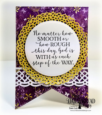 Our Daily Bread Designs Stamp Set: God Quotes 2, Custom Dies: Fancy Circles, Large Banners, Beautiful Borders, Paper Collections: Whimsical Wildflowers, Plum Pizzazz