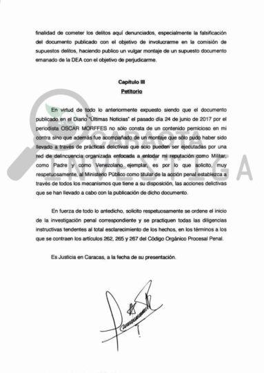 Atención: M/G Miguel Rodríguez Torres formalizó denuncia ante fiscalía