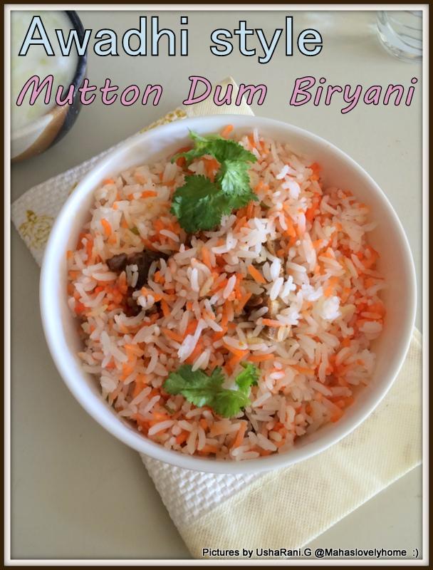 Mahaslovelyhome awadhi style mutton dum biriyani for Awadhi cuisine vegetarian