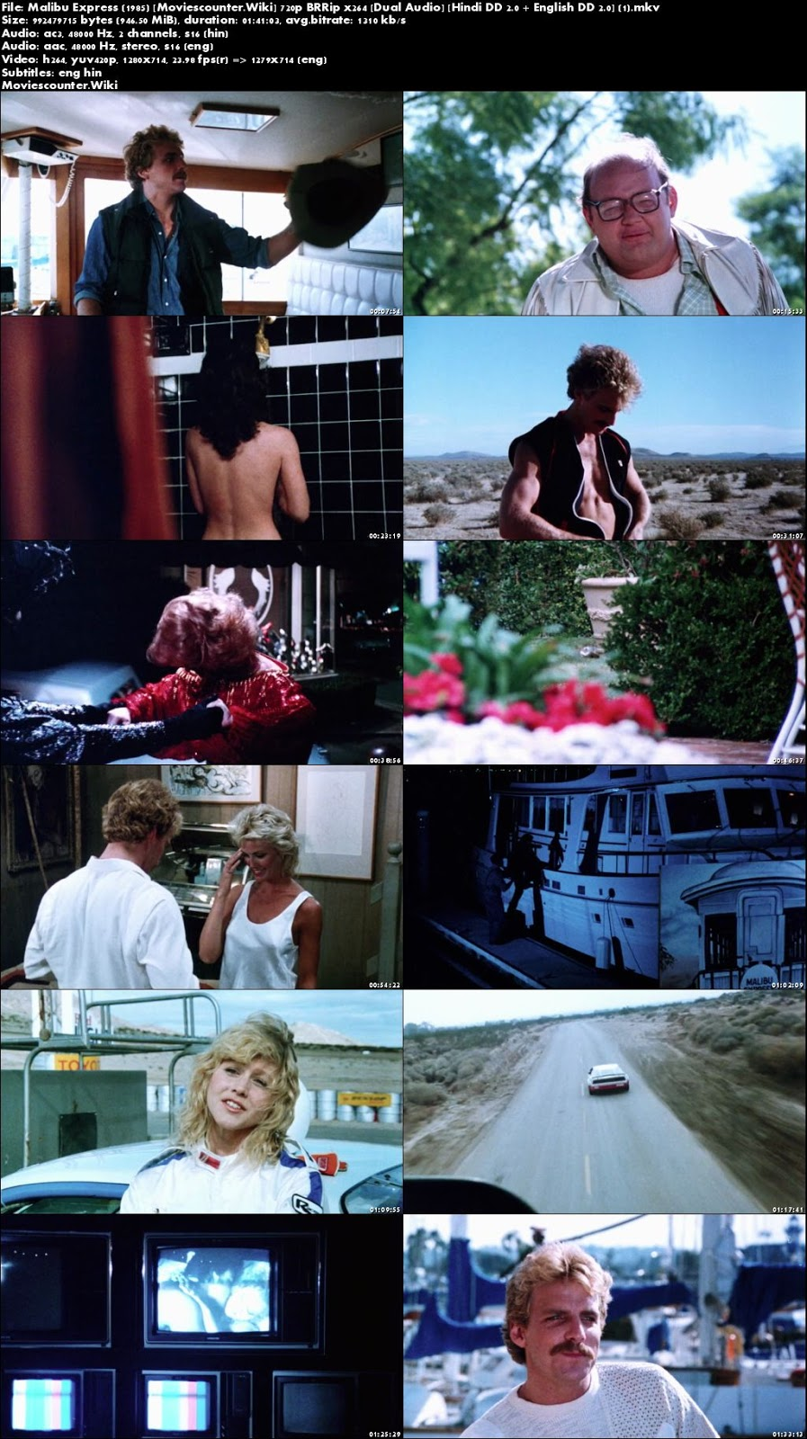 Screen Shots Malibu Express 1985 Dual Audio HD 720p