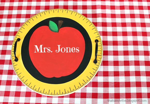 personalized teacher tray
