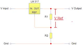 Rangkaian dasar IC LM 317
