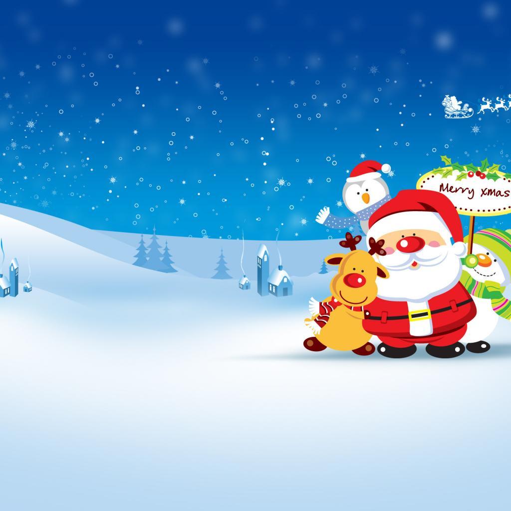 iPad Wallpapers: Free Download Santa Claus iPad Wallpapers ...