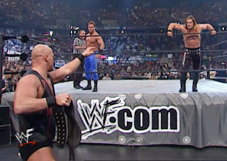 WWE / WWF - King of the Ring 2001 - Stone Cold Steve Austin faced Chris Jericho & Chris Benoit in a triple threat match for the WWF title