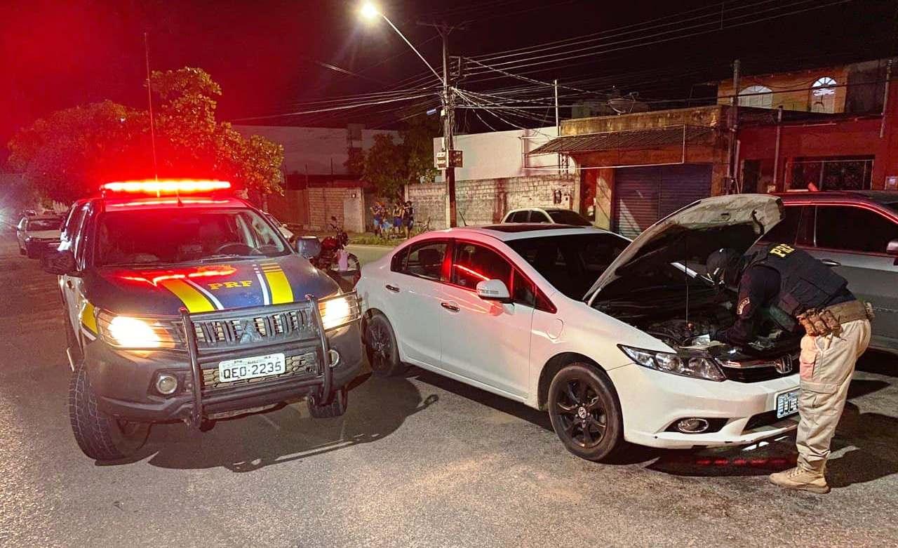 Polícia apreende Honda Civic roubado em Goiás que circulava em Santarém adulterado