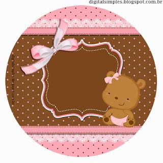Ayıcık, Baby Shower, Bebek, KIZ, Pembe Ayıcık Temalı Parti Seti, Pembe Ayıcık Temalı Doğum Günü Süsleri, Doğum günü süsleri, Parti Malzemeleri