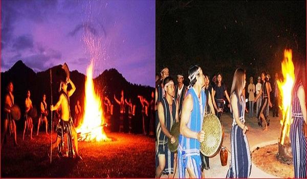 Giao lưu văn hóa cồng chiêng với dân tộc Lạch ngay dưới chân núi LiangBiang