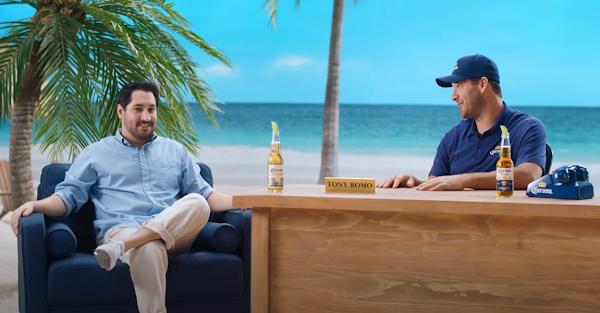 Tony Romo mans the Corona hotline