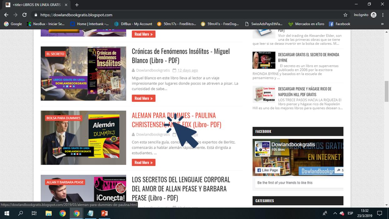 """Haz Clic En El """"botón Descarga """" Y Será Redirigido A Una"""