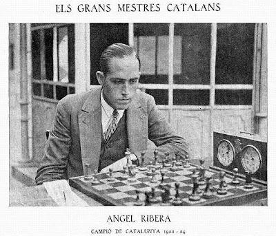 Ángel Ribera Arnal vencedor del V Campeonato de Cataluña de Ajedrez 1933