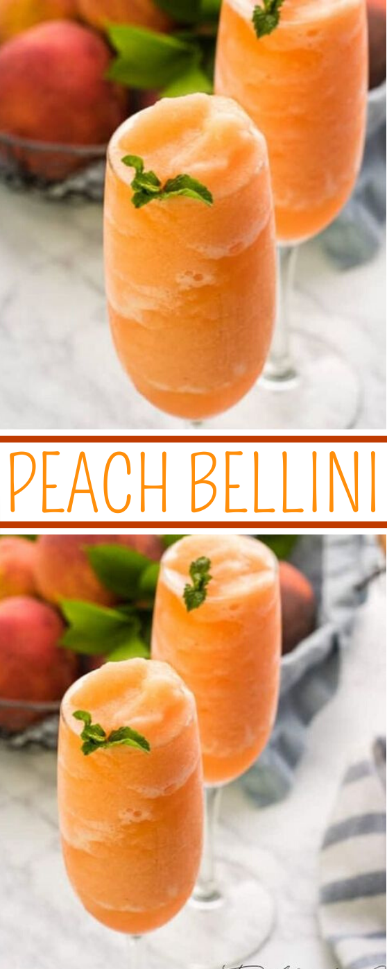 Peach Bellini Recipe #drink #party #brunch #cocktail #summer