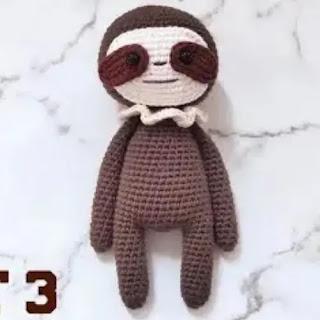 Amigurumi Perezoso a Crochet