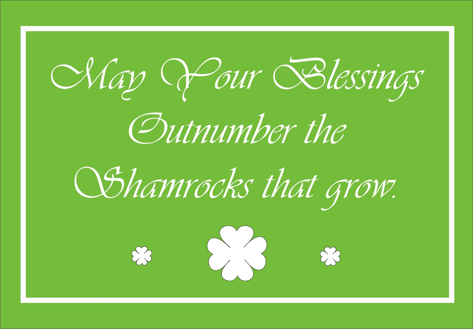 Moments with the Montano's: Irish Blessings - Free Printable