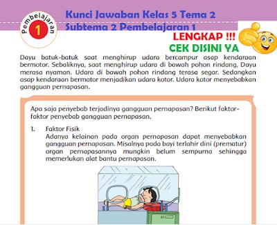 Kunci Jawaban Kelas 5 Tema 2 Subtema 2 Pembelajaran 1 www.simplenews.me