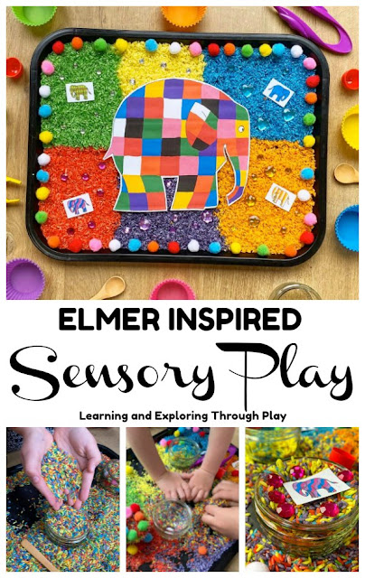 Elmer Sensory Play play ideas for early years
