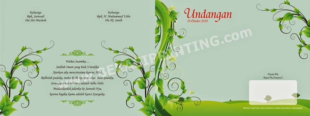 Undangan Soft Cover Full Colour