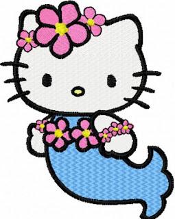 Gambar Hello Kitty Berenang Putri Duyung Terbaru 2017