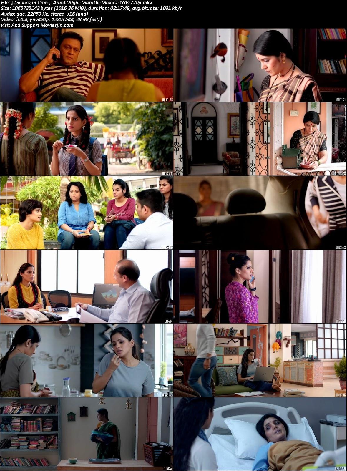 Watch Online Aamhi Doghi 2018 WEBRip 1Gb Marathi Movie 720p Full Movie Download Khatrimaza, free download 9xmovies,