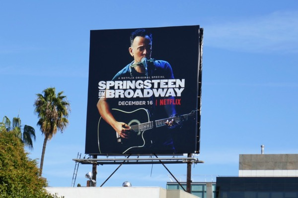 Bruce Springsteen on Broadway billboard