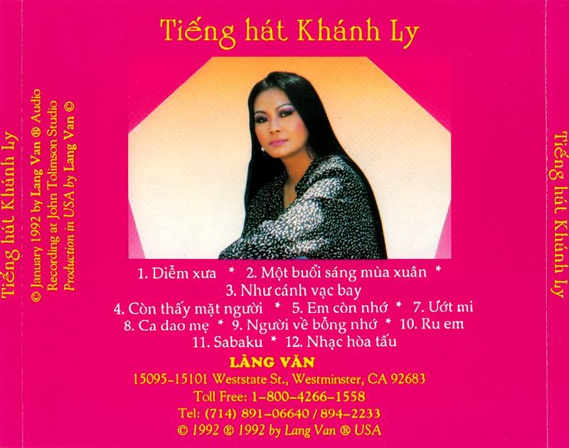Làng Văn CD105 - Khánh Ly - Ướt Mi (NRG) + bìa scan mới