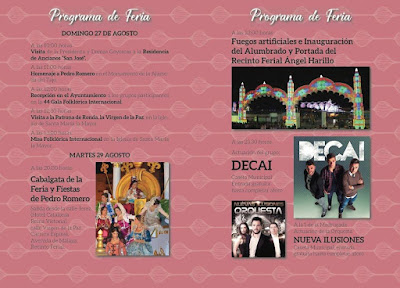 FERIA DE RONDA 2017 - PROGRAMA DÍAS 27 Y 29 DE AGOSTO