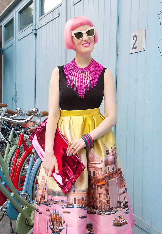 blogger, streetstyle, pink hair
