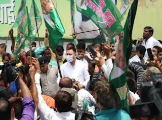 rjd-protest-bihar-on-road