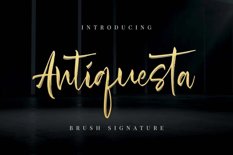 Antiquesta Font - Brush Handwriting Typeface