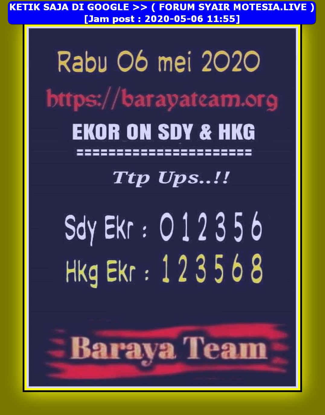 Kode syair Hongkong Rabu 6 Mei 2020 107